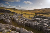 View towards Malham Moor from Pennine Way in Yorkshire Dales Nat — Stockfoto