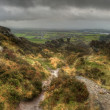 Stock Photo: View from Ramshaw Rocks towards Roaches in Peak District Nat