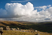 View from Norber Erratics in Yorkshire Dales National Park down — Stock Photo