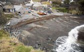 Shingle beach and fishing boats at Cadgwith — Stock Photo