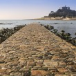 Path to St Michael's Mount from Marazion low tide landscape Cornwall England — Stock Photo #25624331