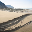 Expanse of golden beach at Praa Sands Cornwall England — Stock Photo