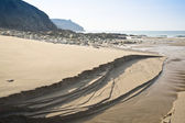Expanse of golden beach at Praa Sands Cornwall England — Stock Photo