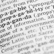 Stock Photo: Macro image of dictionary definition of propaganda