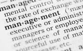 макро образ словарное определение управления — Стоковое фото