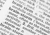 макро образ словарное определение мозговой штурм — Стоковое фото