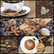 Collage of coffee images — Stock Photo