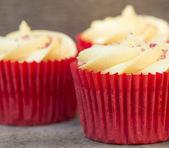 Cupcakes glassato — Foto Stock