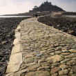 Landscape of Path revealed at low tide to St Michael's Mount from Marazion Cornwall England — Stock Photo #28201893
