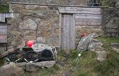 Attirail de l'industrie de pêche à cape cornwall — Photo