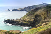 Lizard Point and lighthouse, the most Southerly point in Britain — Stock Photo