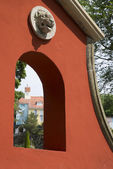 PORTMEIRION, WALES - JUNE 18: Portmeirion Village in Wales on Ju — Foto Stock