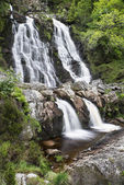 Rhiwargor Waterfall landscape in Snowdonia National Park during — Stock Photo