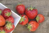 Macro shot of fresh Summer strawberries — Stock Photo