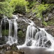 Landscape detail of waterfall over rocks in Summer long exposure — Stock Photo #29868997