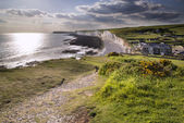 Seven Sisters from Birling Gap Summer evening. — Stock Photo