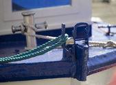 Yahct-segelboot-bogen-detail-bild — Stockfoto