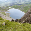 View from top of Cadair Idris looking to Llyn y Gader landscape — Stock Photo #30076983