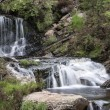 Rhiwargor Waterfall landscape in SnowdoniNational Park during — Stock Photo #30079207