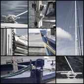 Retro look collection of yacht sailboat details — Stock Photo
