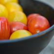 Stock Photo: Fresh juicy Heirloom tomatoes in rustic setting