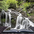 Creative concept pages of book Landscape detail of waterfall ove — Stock Photo #32855495