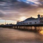 Winter sunset long exposure over Brighton pier. — Stock Photo #39343845