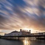 Winter sunset long exposure over Brighton pier. — Stock Photo #39345021