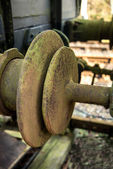 Vintage old railway buffer joint connection coupling — Stock Photo