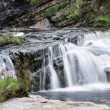 Panorama landscape waterfall detail flowing over rocks in Summer — Stock Photo #42562927