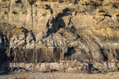 Geological detail image mesozoic rock landscape close up — Stock Photo