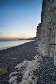 Landscape image of sunset over Birling Gap in England — Stock Photo