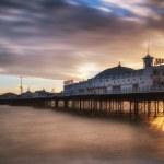 Winter sunset long exposure over Brighton pier. — Stock Photo #51427165