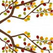 Branch of autumn tree — Stock Vector
