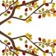 Branch of autumn tree — Stock Vector