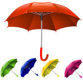 Umbrellas set — Stock Vector
