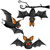 Cute vector bat — Stock Vector