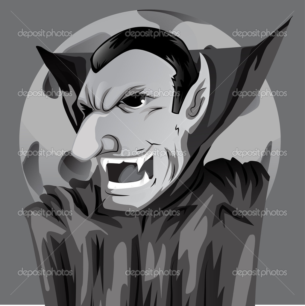 Cartoon count dracula — stock vector lindwa