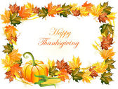 Vector illustration of thanksgiving day background — Stock Vector