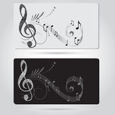 Music cards templates — Stock Vector