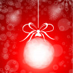 Stock vector beautiful christmas red ball illustration christmas — Stock Vector