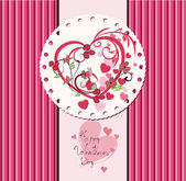 Valentine's day card design. — Stock Vector