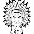 American Indian chief — Vector de stock