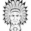 American Indian chief — Imagen vectorial