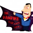 Cartoon vampire — Stock Vector