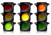 Semáforos — Vetor de Stock