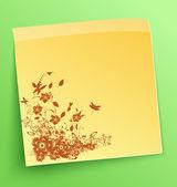 Poznámka: hůl s abstraktní květy — Stock vektor
