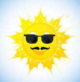 Cartoon sun in sunglasses — Stock Vector