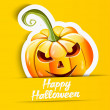 Halloween pumpkin sticker — Stock Vector