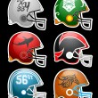 Stock Vector: Football Helmets